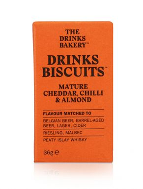 Drinks Biscuits - Mature Cheddar, Chilli & Almond 36g