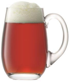 LSA Bar Beer Tankard Curved - Clear 750ml