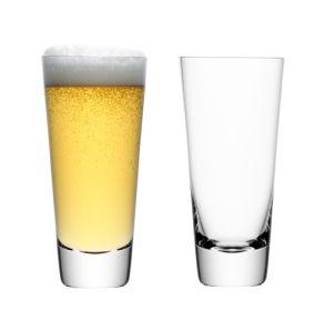 LSA Madrid Lager Glasses - Clear 600ml (Set of 2)