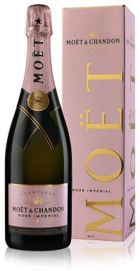 Moet & Chandon Rose Brut Imperial Champagne NV 75cl Gift Box