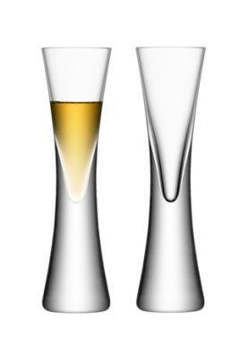 LSA Moya Liqueur / Vodka Glasses - Clear 50ml (Set of 2) Gift Box