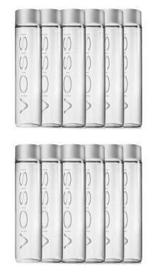 Voss Artesian Still Water Glass Bottles Case of 12 x 800ml