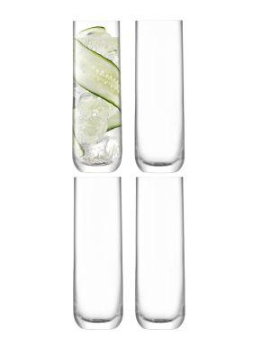 LSA Borough Highball Glasses - Clear 420ml x 4