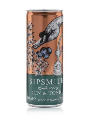 Sipsmith Gin and Tonic Pre-Mix Can 25cl
